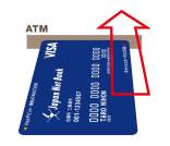 ジャパンネット銀行のカードの挿入向き画像