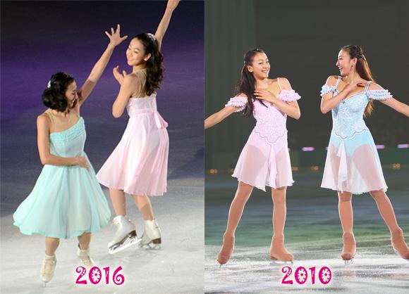 浅田真央と浅田舞の写真